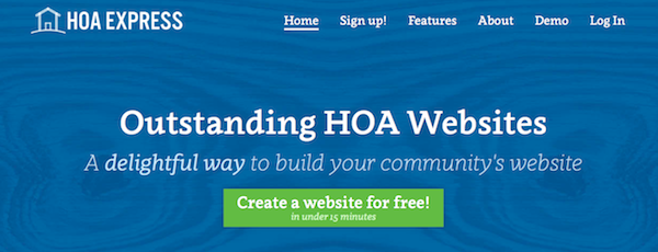 HOA Express website
